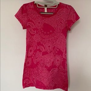 BKE Pink with Silver Embroidery Top M